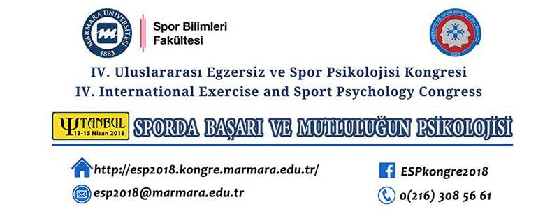 IV. Uluslararası Egzersiz ve Spor Psikolojisi Kongresi
