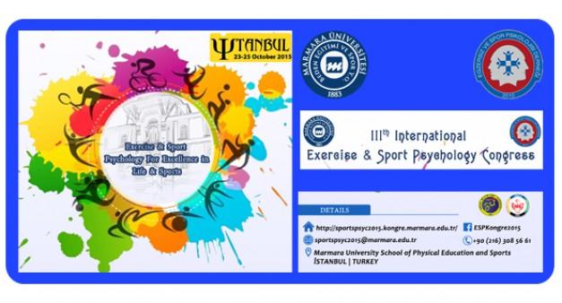 III. Uluslararası Egzersiz ve Spor Psikolojisi Kongresi Yapıldı